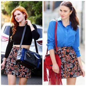 Zara Aline Floral Mini Skirt Sz S (P36)